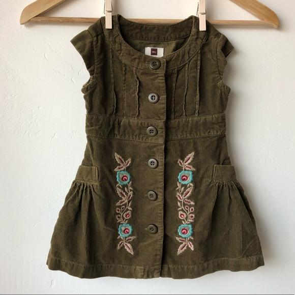 e327323e2 Tea Collection Dresses | Tea Corduroy Village Floral Dress Size 1218 ...